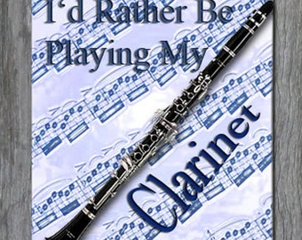 Mouse Pad - I'd Rather Be Playing My Clarinet