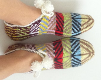 Women Knit slippers, Knit home shoes, Knit indoor slippers, Knit socks, Knit indoor shoes, Knit women shoes, Women socks