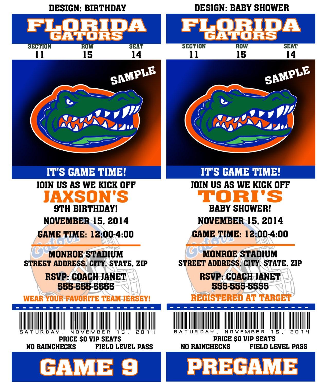 Printable Florida Gators College Football Birthday Party