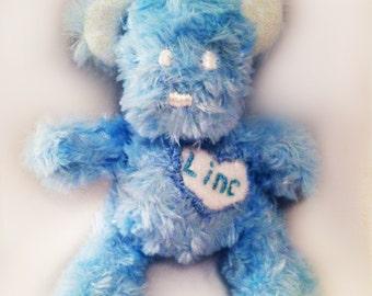 Custom Plush,Newborn Stuffed Teddy Bear, Baby Blue Bear Plush