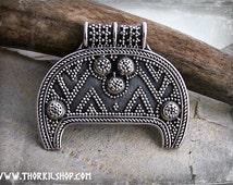 Viking jewellery, Viking pendant, lunula from Birka, lunitsa, lunik pendant, pagan lunar amulet with granulation