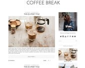 Premade Blogger Template - Instant Download - Coffee Break - Blogspot blogger theme - blog design - blogger blog template