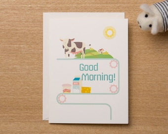 Set of 4 - Good Morning Card