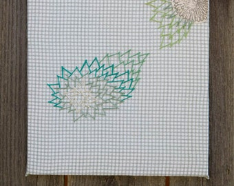 Embroidery: Reaching Flowers
