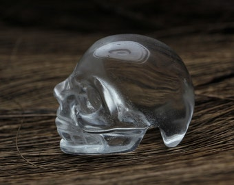 Natural Quartz Crystal Carved Skeleton,Healing Skull,Pretty surprising Crystal Skull 086