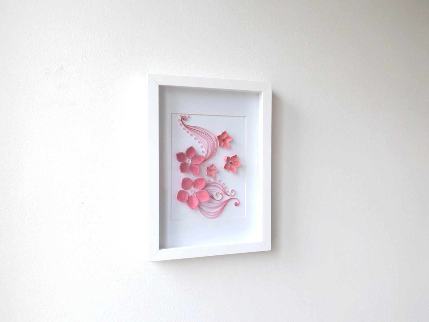 Wall Hanging Artwork : Paper quilling art frame hanging wall quilled