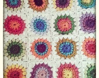 Crochet blanket, Scandinavian style.
