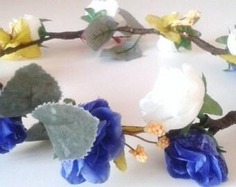Flower Crown, Head Piece, Races, Melbourne Cup, Australian Made, Bride,Bridal,Bridesmaid,Flower Girl, Music Festivals,Floral, Accessories