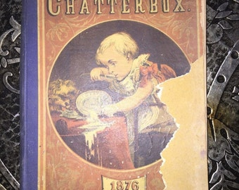 Chatterbox 1876, Victorian Children's Magazine, Collectible, Illustrated