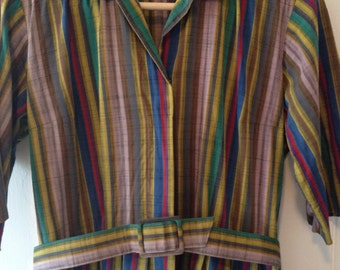 Vtg Californian technicolour dress