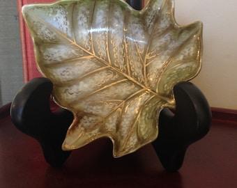 CERAMIC LEAF DISH, handpainted, soapdish, home decor, Ceramic leaf ceramic tray, Fall style