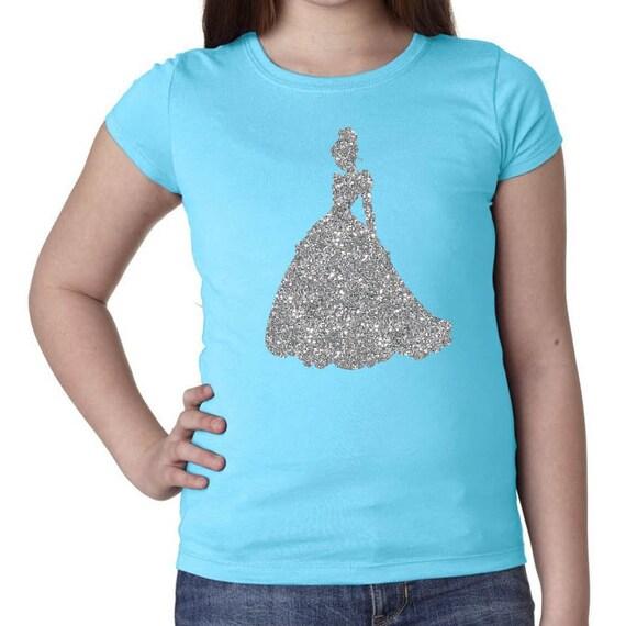 items similar to glitter girls cinderella t shirt disney shirt disney 39 s kids shirts. Black Bedroom Furniture Sets. Home Design Ideas