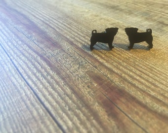 Tiny Pug Dog Studs/Earrings (puppy love, perfectly pug)