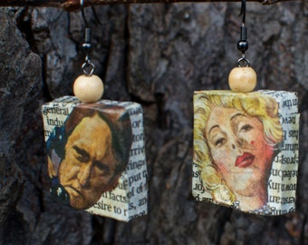 Paper Mache Handmade Funky EARRINGS