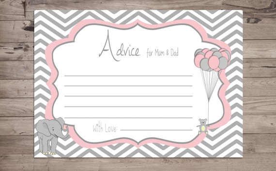 Baby Showers For Mums And Dads ~ Advice for mum and dad card printable baby shower game