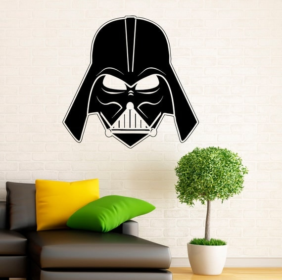 darth vader wall decal vinyl stickers star wars home interior wall stickers darth vader images