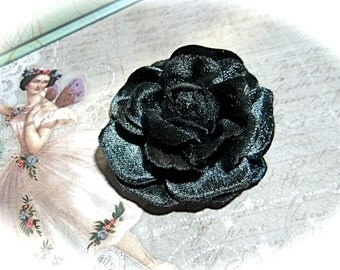 Blue Velvet Rose Millinery Supplies Trims Crafts FL-103