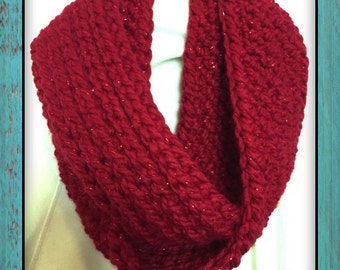 75% Off Holiday Sale | Triple Luxe Cowl | Knit Look Crochet Cowl