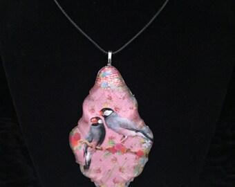 Vintage Love Birds chandelier pendant necklace