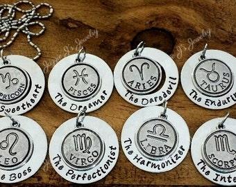 Zodiac Sign Keychain, Zodiac Symbol Keychain, Capricorn, Aquarius, Pisces, Leo, Cancer, Virgo, Taurus, Virgo, Gemini, Scorpio, Sagittarius