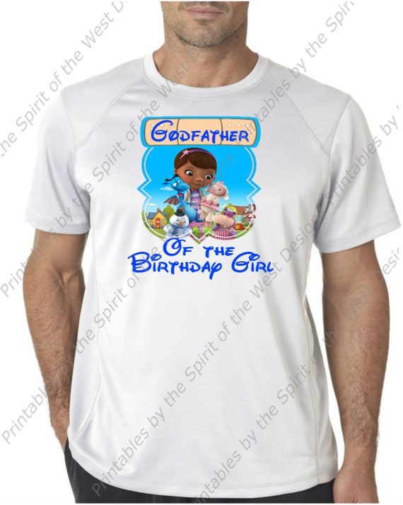Godfather Of The Birthday Girl Doc McStuffins Iron On Disney T Shirt Printable Digital Download Dottie Hattie Hippo Party Favour