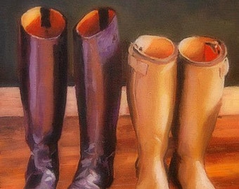 Boots, Oil Painting, Country, 11x14 (SOLD. Example Only)