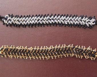 Two-side Beaded Centipede Bracelet