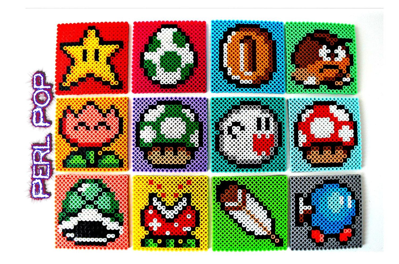 mario perler mario bead coasters 8 bit perler bead