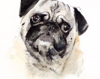 5x7 Custom Pet Portrait Illustration