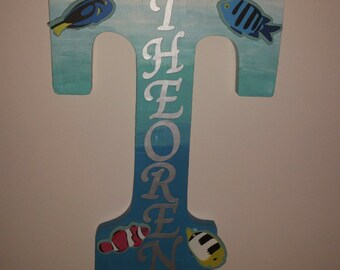 fish decorated Letter