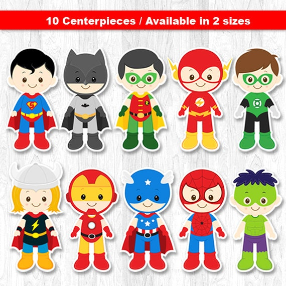Superhero Centerpiece Superhero Table Centerpiece by KidzParty