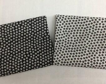 Black & White Mini Paw Prints..Timeless Treasures