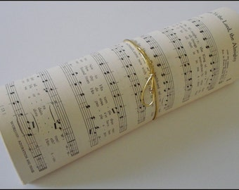 40 Vintage Hymnal Pages (80 sides) from a 1950s Church Hymn Book  - Shower, Crafts, Re-purpose, Upcycle, Scrapbook