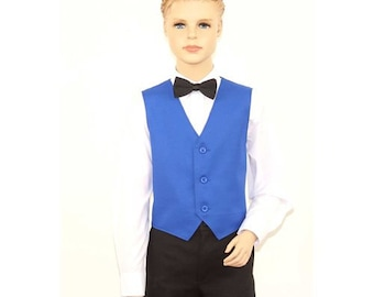 Kids Royal Blue Full Back Dress Vest