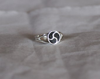 BDSM Emblem Signet Ring Sterling Silver