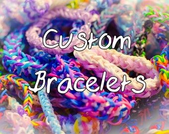 Loom Bracelets Pick your own colors (Buy Two Get one Free)