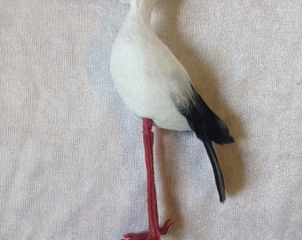 Stork 4 Inches Fake Stork Artificial Stork Baby Shower Stork Craft Stork