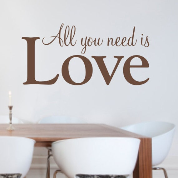 Wall Decor All You Need Is Love : All you need is love vinyl wall art sticker decal wa x