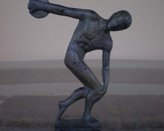 Discobolus of Myron Bronze Statue  Ancient Greek Antique Style