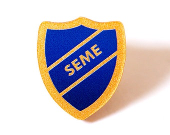 SEME acrylic prefect badge
