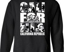California Republic White Camouflage Hooded Sweatshirt California Hoodie California Style California Clothing Camo Hoodies Bestfriend Gifts