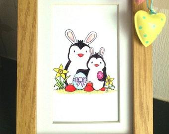 Easter penguins! 6x4 print