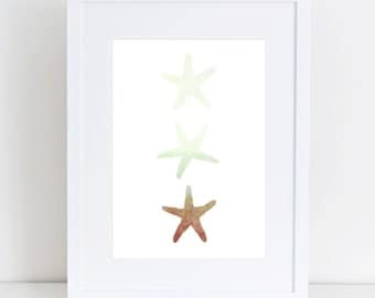 Starfish Wall Decor, Digital Print, Starfish Print, Wall Art, Beach Decor, Nursery Print, Instant Download, Housewares, Beach House Art