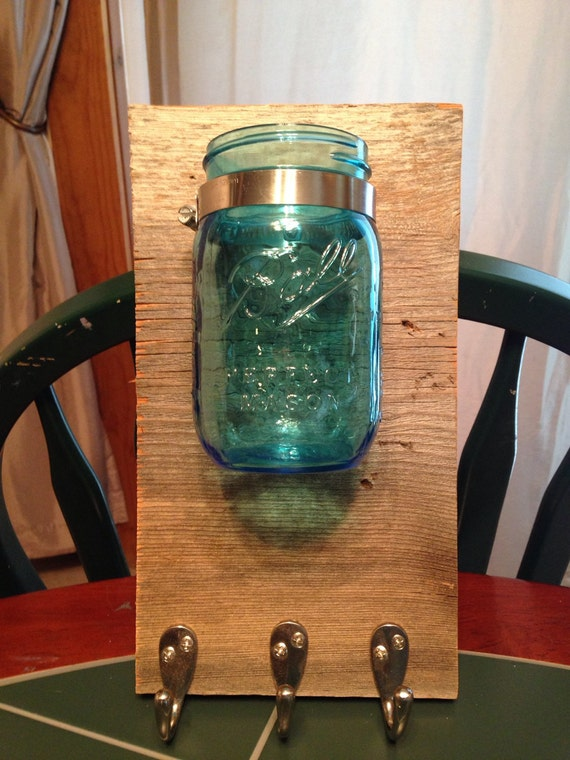 Mason Jar Vase and Keys Holder
