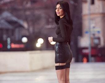 Megz Long Sleeve Black Blouse R15/23