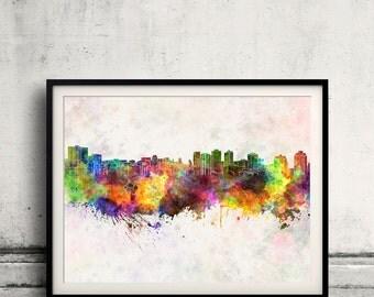 Halifax skyline in watercolor background 8x10 in to 12x16 Poster Digital Wall art Illustration Print Art Decorative  - SKU 0145