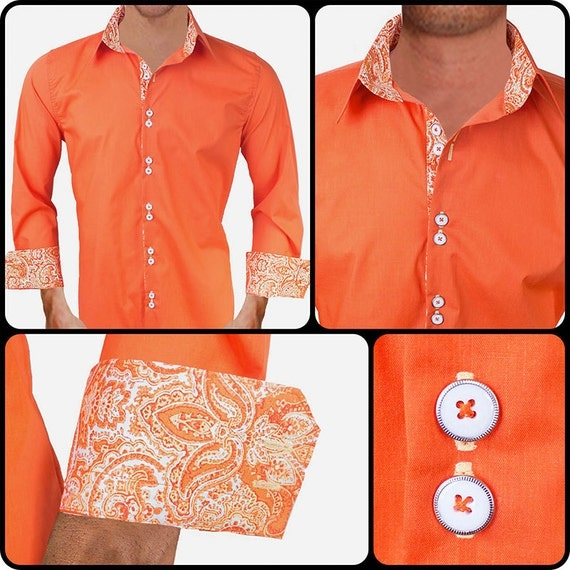Mens bright paisley shirt male models picture for Bright mens dress shirts