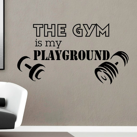 Gym wall decal sayings vinyl lettering the is by