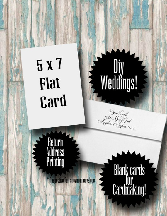 Blank Cards With Envelopes And Return Address By