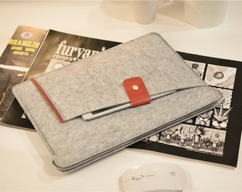 "2016 13"" Macbook Pro , 13 inch Laptop Sleeve , Felt Macbook 13 Case , Felt Macbook 13"" Sleeve , Felt Macbook Pro 13 Case #209"